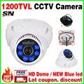 Ler hd CCTV Câmera ahdl 1/3 cmos 1200TVL Nanômetros LED Azul Analógico Segurança IRCUT Infravermelho Interior Vídeo Noite visão 30 m mini