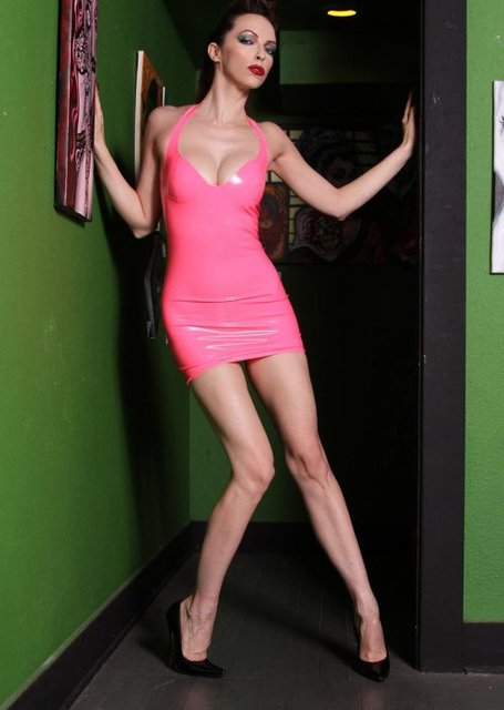 7306e312e 100%Latex Rubber fetishism/Dress/Sexy Red tape dress/attractive choice/ fetishism