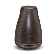 Ultrasonic Air Humidifier Aroma Essential Oil Diffuser with Wood Grain 7 Color Changing LED Lights for Office Home 100ML все цены