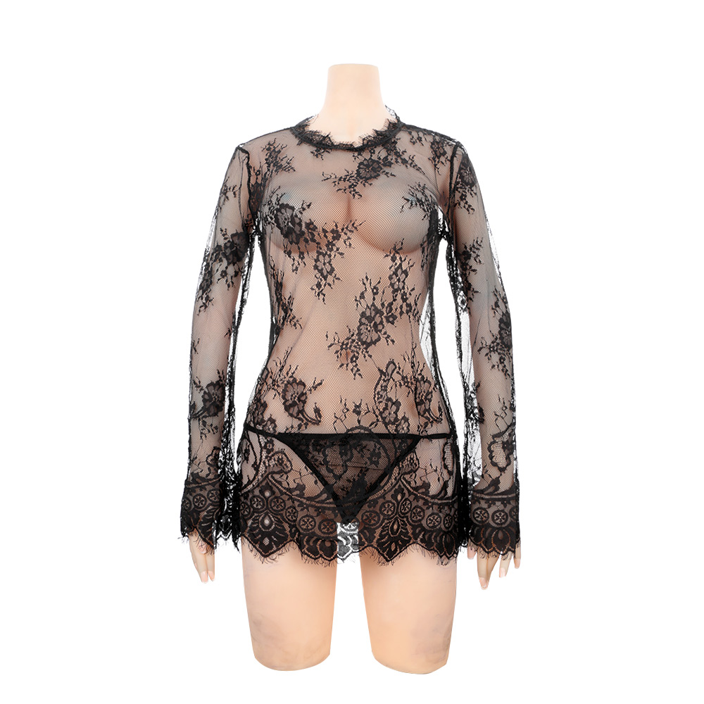 Fashion Features Female Sexy Lingerie Costumes Exotic Apparel Babydolls Lace Sexy Costumes Temptation Sleepwear