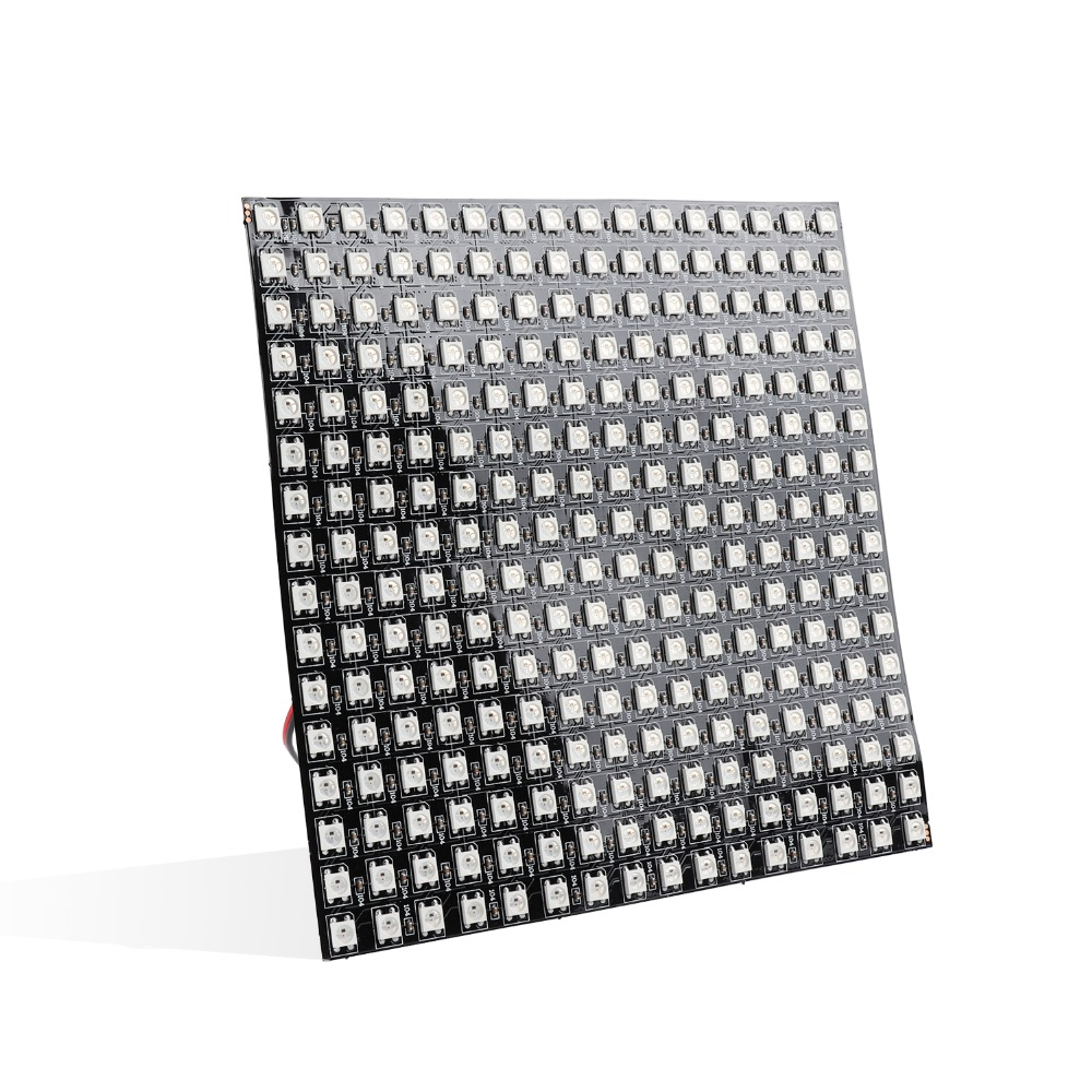 WS2812 Matrix DC5V LED Module 256 Pixels Digital Flexible LED Panel Individually Addressable 5050 RGB WS2812B Led Light JQ
