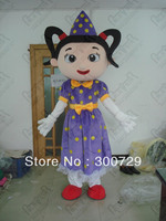 student girl mascot costumes character person onesies for adults
