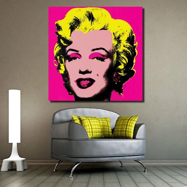 JQHYART Marilyn Monroe Andy Warhol Pop Art Figure Living Room Modern ...
