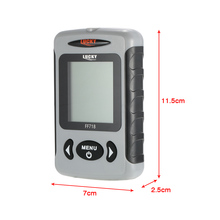 LUCKY FF718 Portable Fish Finder Sonar Wired Fish Depth Alarm 80M Fishing Tackle Fishfinder Alarm White LED Transducer Adapter