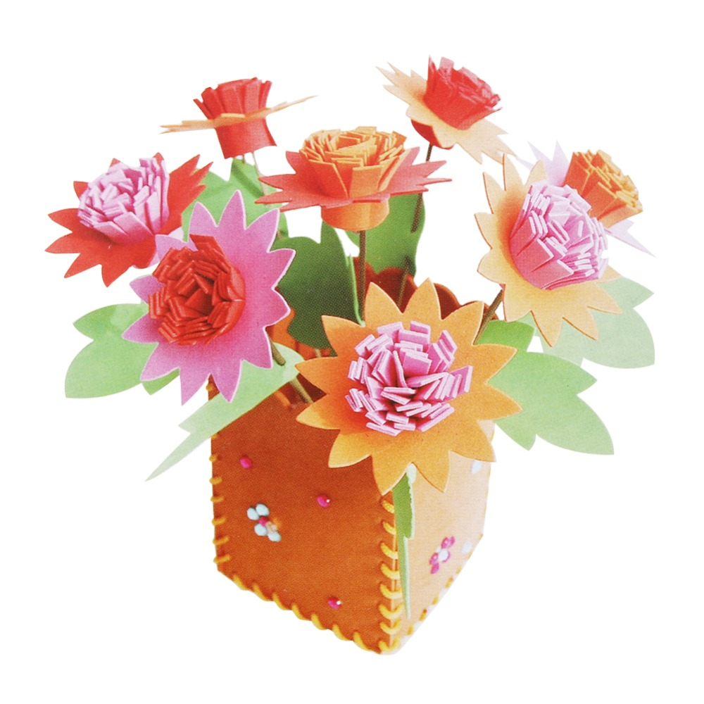 3d flower pot craft kit free shipping worldwide. Black Bedroom Furniture Sets. Home Design Ideas