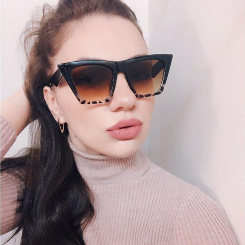 2019 Women Cat Eye Sunglasses Vintage Retro Fashion Brand Designer Clear Lens Cateye Sun Glasses Shades UV400