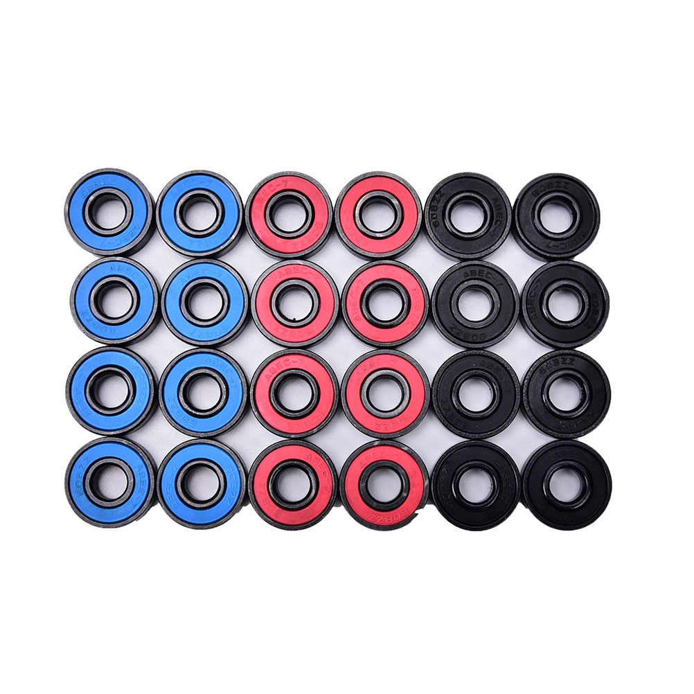 8 Pcs/Set 608RS Bantalan roda Skateboard Bantalan dengan Hoverboard Waveboard Terintegrasi Spacer