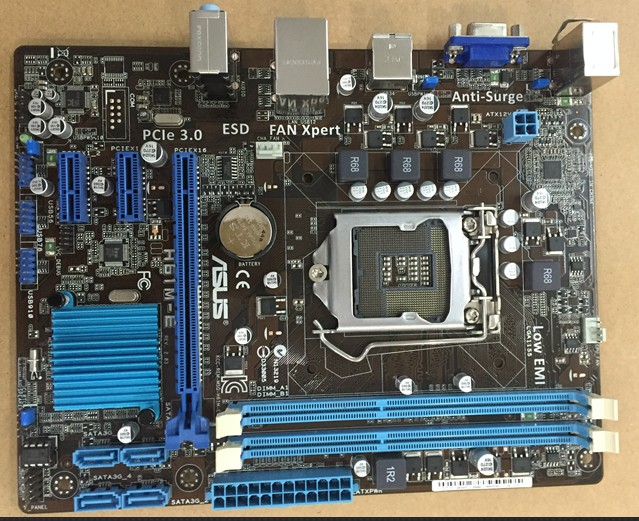 Оригинальные платы для ASUS h61m-e доска LGA 1155 DDR3 поддержка плата I3 I5 I7 ЦП H61 рабочего Материнская плата Бесплатная доставка