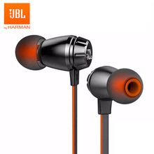 JBL T380A Stereo Music Earphones In-ear 3.5mm Wired HIFI Sport Headset Dual Dynamic Line Control Hands-free Call with Microphone awei es 20ty hifi music wired earphones with microphone gray