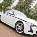 Drei farbe streifen design auto körper refit decor aufkleber und abziehbilder für BMW E46/E39/E60/E90/E36 und so weiter, ein paar auto styling