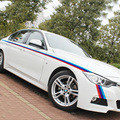 Drie kleur strepen ontwerp carrosserie refit decor stickers en stickers voor BMW E46/E39/E60/E90/E36 enzovoort, een paar auto styling