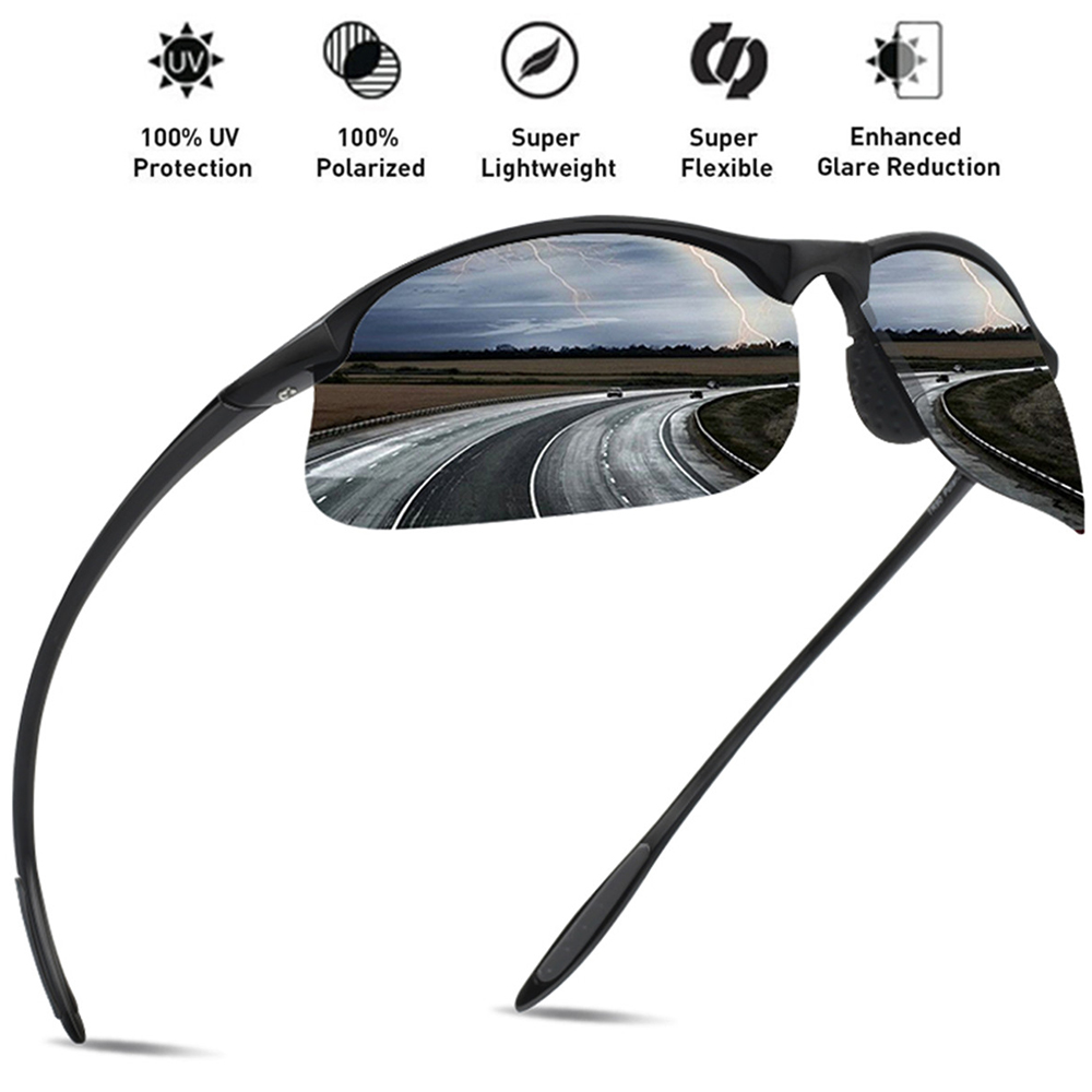 c4dbea028db JULI Brand Classic Polarized Sunglasses Men Women Driving TR90 Frame Male  Sun Glasses Fishing Sports Goggles