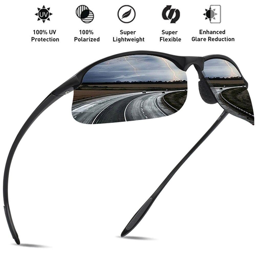 f46be5c678 JULI Brand Classic Polarized Sunglasses Men Women Driving TR90 Frame Male  Sun Glasses Fishing Sports Goggles