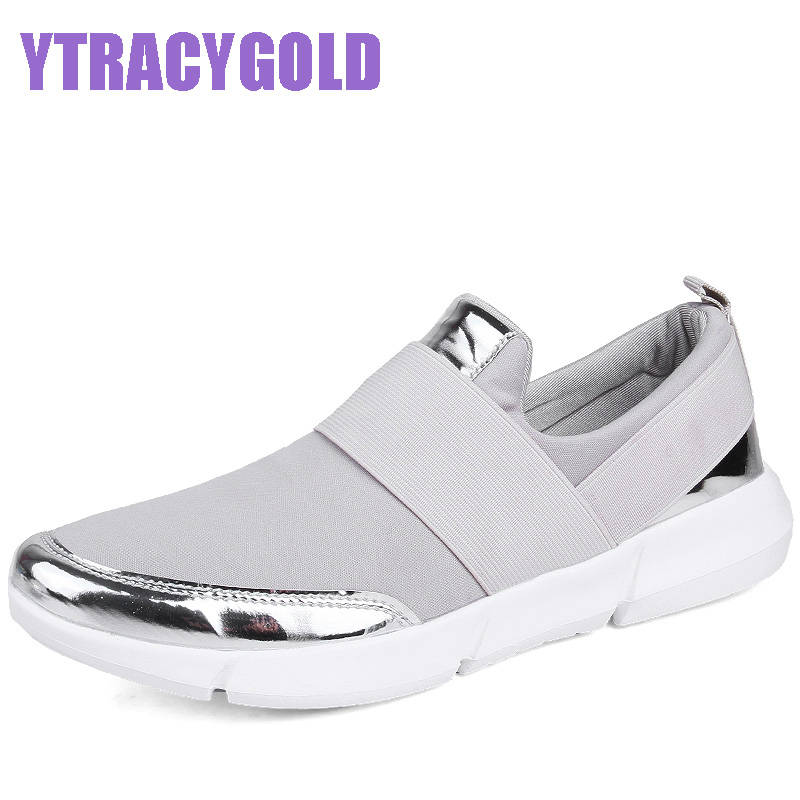 YtracyGold Women Casual Shoes Female Platform Shoes Women Slipony Krasovki Tenis Feminino Ladies Shoes Flats Zapatillas