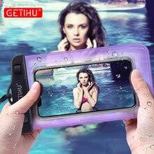 Getihu universal à prova dwaterproof água caso capa bolsa casos à prova de água para o iphone coque caso do telefone móvel para o iphone 12 11 pro max 8