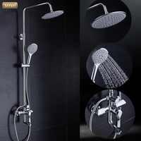 Xoxo banheira chuveiro do banheiro banho de chuva chuveiro banheiro torneira do chuveiro conjunto em barra corrediça grande cabeça de chuveiro handshow x80020