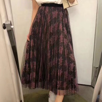 Runway Skirt Designers 2018 Fashion Casual High Waist Skirts Summer Long