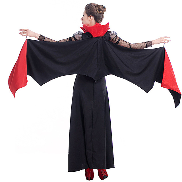 Adult Bat Wings V&ire Costume Halloween Red Cape Ladies Fancy Dress P9247  sc 1 st  AliExpress.com & Adult Bat Wings Vampire Costume Halloween Red Cape Ladies Fancy ...