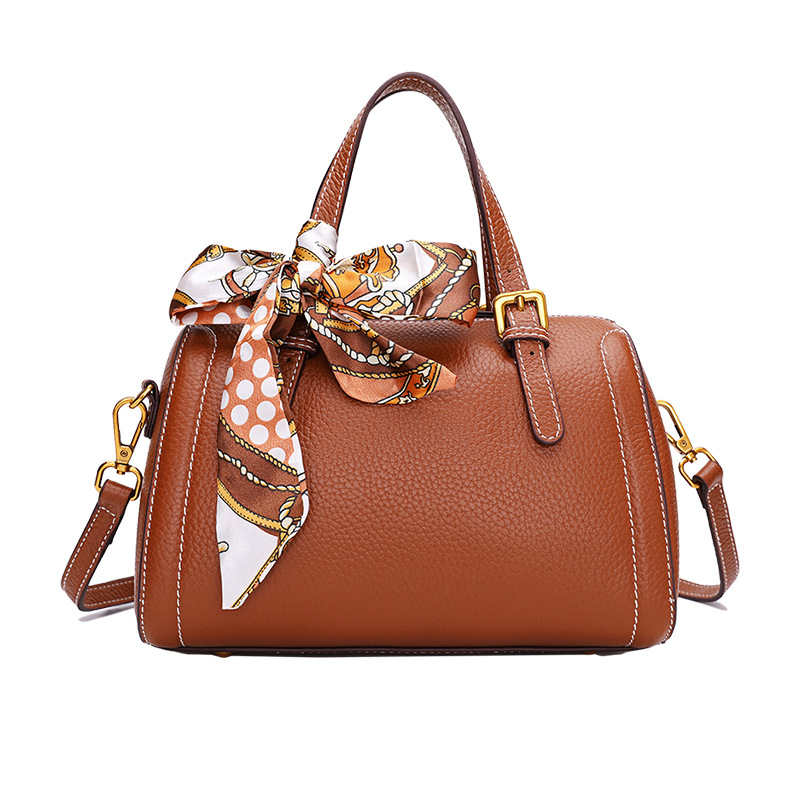 9053 New Fashion Genuine Leather Handbag Ladies Retro Sloping Top Layer Cowhide Leather Shouler Bag Women Boston Bag9053 New Fashion Genuine Leather Handbag Ladies Retro Sloping Top Layer Cowhide Leather Shouler Bag Women Boston Bag