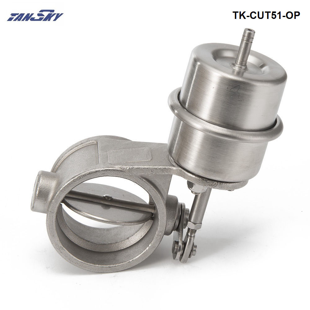 NEW Vacuum  Activated Exhaust Cutout 2'' 51MM Open Style Pressure: About 1 BAR For FORD MONDEO TDCi TK-CUT51-OP