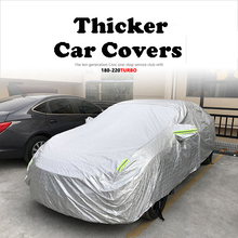 Car Styling Reflective Thicker Waterproof Rain Car Covers For 10th Honda CIVIC Autohoes Waterdicht Cubierta Coche Car Covers