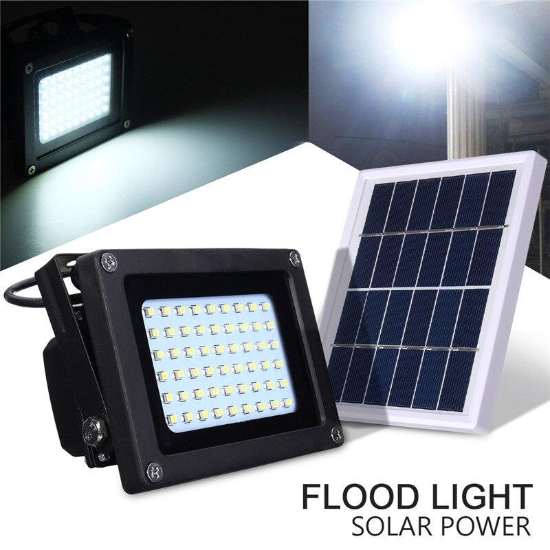 Lampe de tache d'inondation de capteur de lumière LED de crépuscule à l'aube d'énergie solaire extérieure lumière de sécurité de mur de voie de jardin imperméable 54