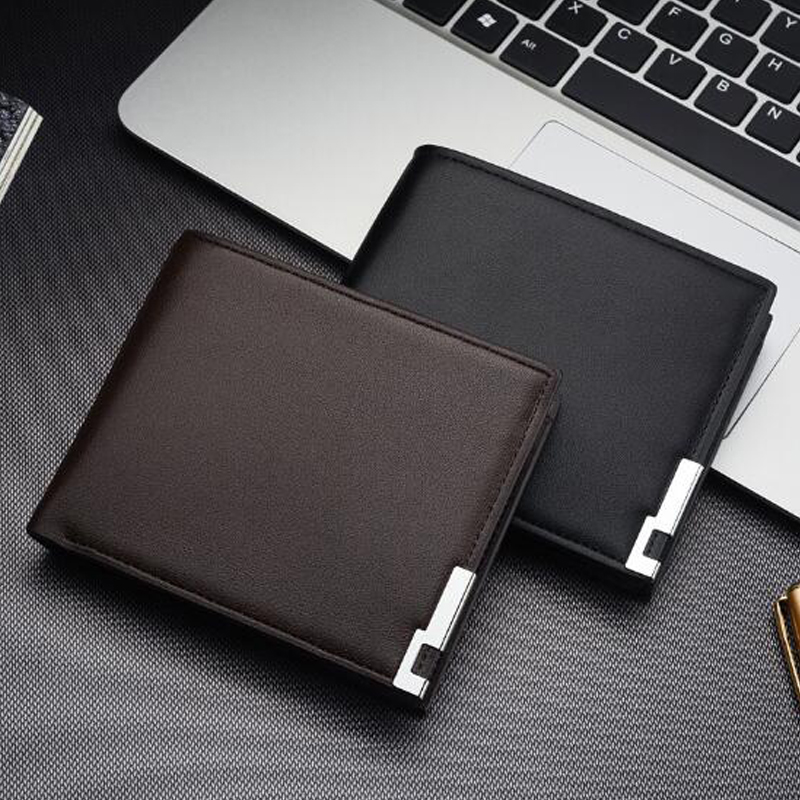 Best Selling Latest Men's Short Wallet Iron Side Korean Youth Men's Cross Section Wallet Trend Card Package Wholesale 2019 Walle