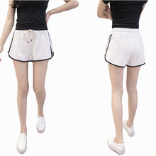 Summer Fashion Street Shorts Women Elastic Waist Short Pants Women All-match Loose Solid Soft Cotton Casual Shorts Femme