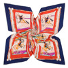 New Spring And Autumn Occident Horse Pattern Fashion Silk Brand Scarf Twill Square Scarf Shawl Multicolor