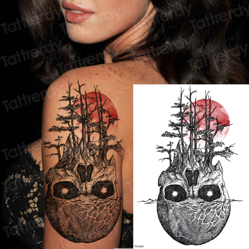 Temporary Tattoos For Women Girls Sexy Tattoo Sleeve Pattern Water
