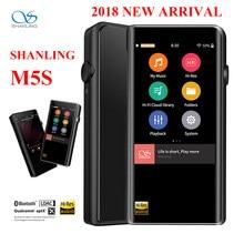 Shanling m5s hi-res portátil mp3 player de áudio de alta fidelidade bluetooth wifi APT-X flac wav wma dap dsd lossless leitor de música tela retina