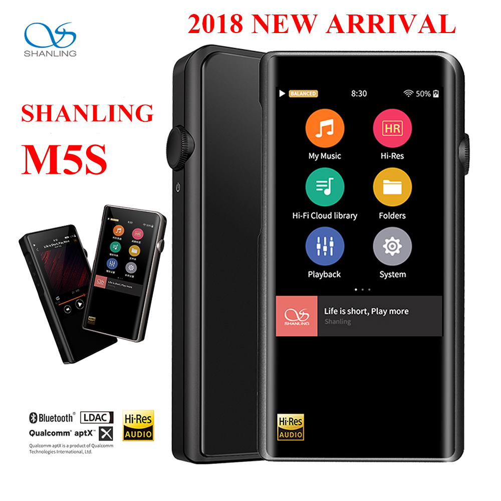 SHANLING M5s hi-res lecteur MP3 Portable Hifi Audio Bluetooth Wifi APT-X FLAC WAV WMA DAP DSD lecteur de musique sans perte écran Retina