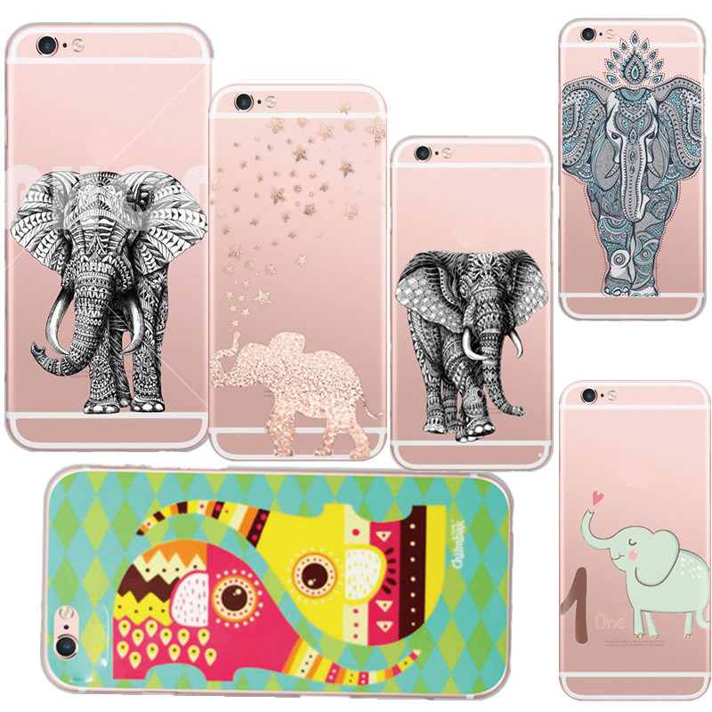 New Style Cases Cute Cartoon Animal world Elephant Case Cover For Apple iphone 5 5s se