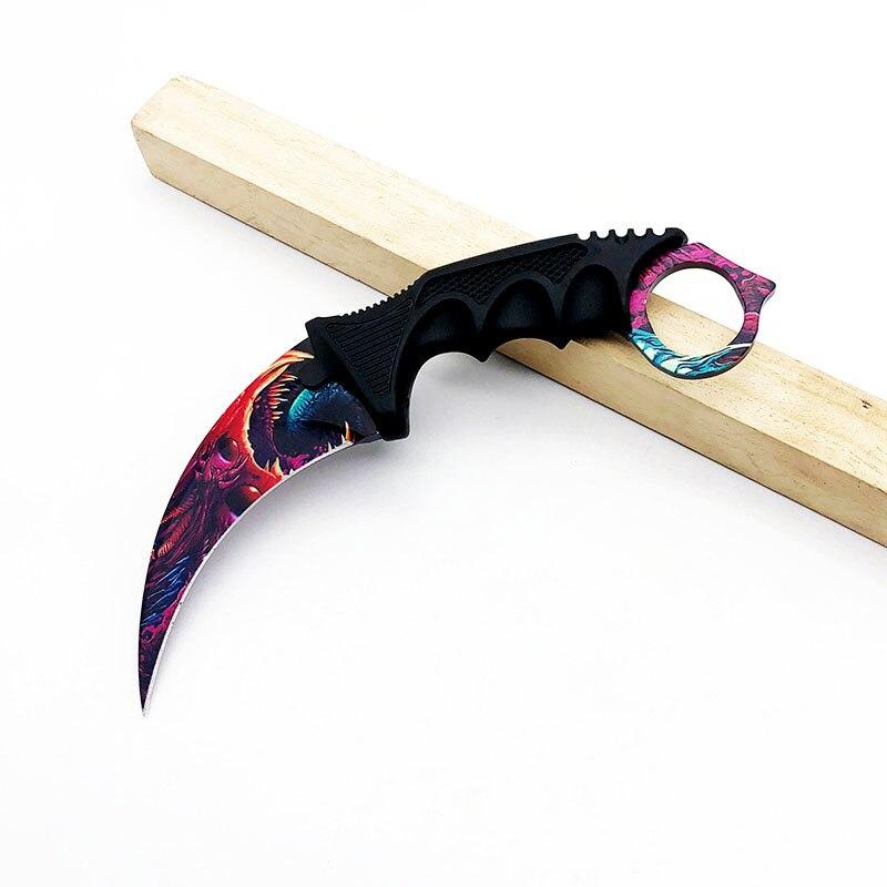 Karambit cuchillo CS GO Counter Strike cuchillos de caza supervivencia cuchillo que acampa herramientas