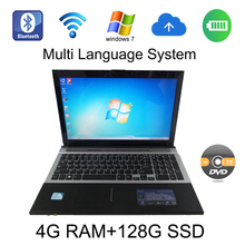 windows 7/8 system 15.6 inch laptop Intel Celeron J1900 2.0GHz 4G ram 128G SSD in camera with DVD-RW send mouse