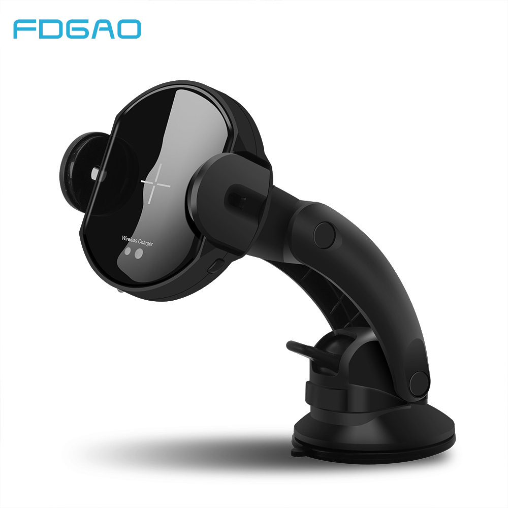 FDGAO 15W Fast Qi Automatic Wireless Car Charger For iPhone X XS Max XR 8 Infrared Sensor USB Charging Stand For Samsung S9 S8-in Car Chargers from Cellphones & Telecommunications on