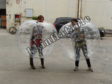 Manufacturer direct PVC/TPU inflatable human sized soccer bubble ball
