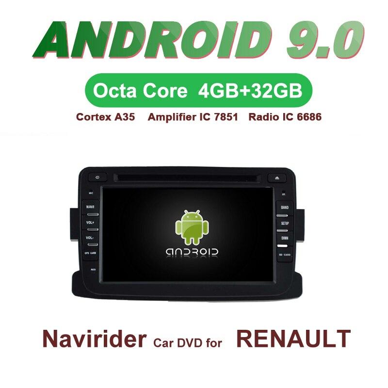 OTOJETA GPS Per Auto Android 9.0 Radio PER RENAULT DUSTER DACIA Sandero di Navigazione con DVD Capacitivo di Sostegno dello schermo Specchio LinkOTOJETA GPS Per Auto Android 9.0 Radio PER RENAULT DUSTER DACIA Sandero di Navigazione con DVD Capacitivo di Sostegno dello schermo Specchio Link