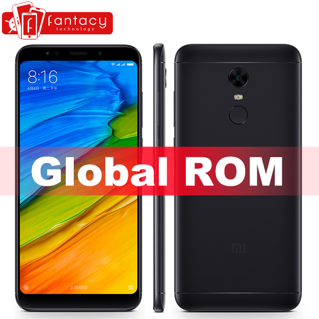 "Global 5 Plus 32 3 gb gb ROM Xiaomi Redmi Smartphone 5.99 ""18:9 FHD Snapdragon 625 Impressão Digital em Tela Cheia ID MIUI 9 5 Mais 4000 mah"