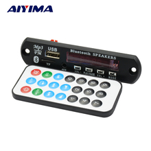 Aiyima 12V Bluetooth Multi - format Lossless Audio Decoder Board APE MP3 WMA WAV FLAC USB Sound Card Headset(China)