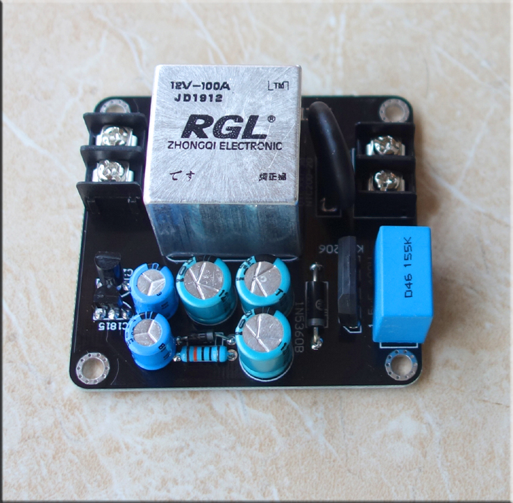 The high current soft starter panel is suitable for class a amplifier and high power amplifier 084