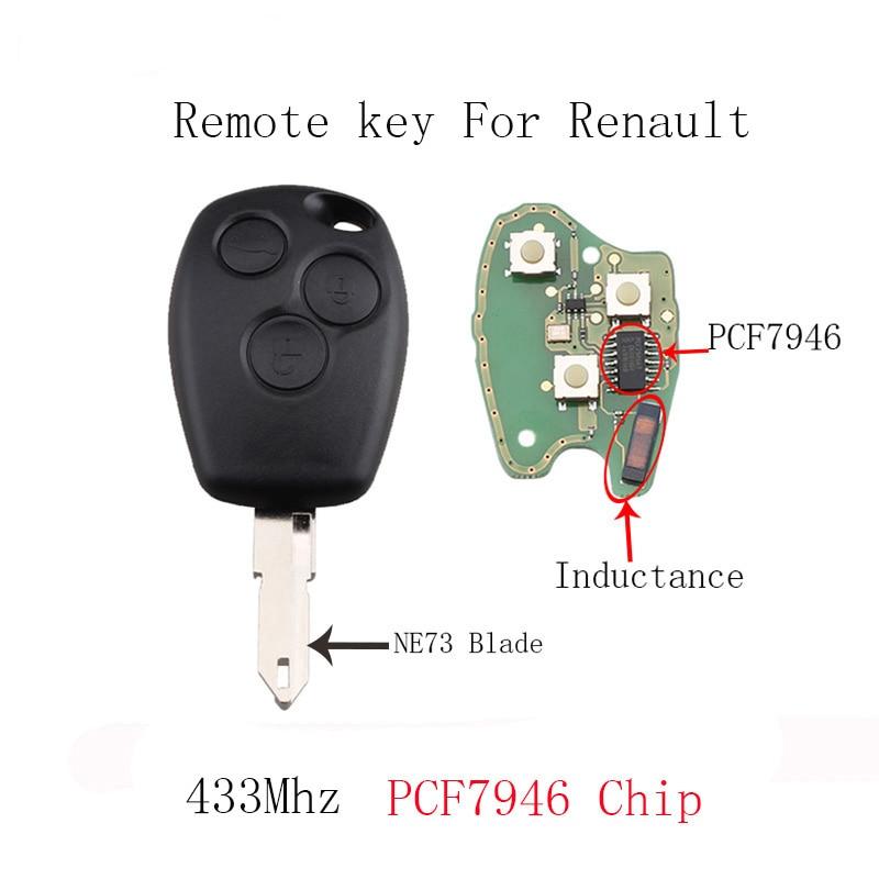 3 taste NE73 Blade Remote Auto schlüssel Für Renault Duster Logan Fluence Clio Vivaro Movano Master Verkehrs Kangoo PCF7946/ PCF7947 Chip