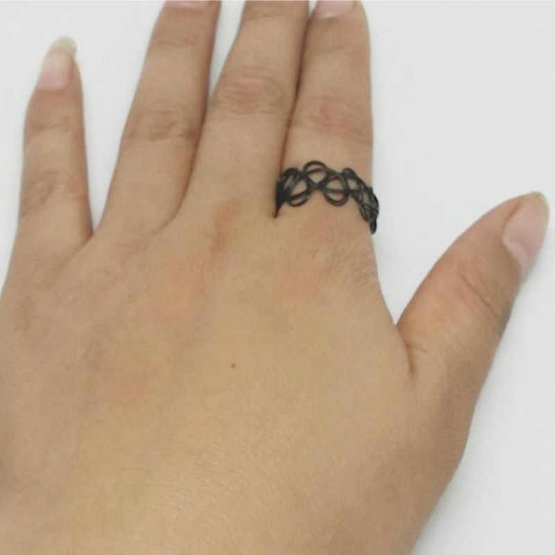 2017 3 قطع الأسود خمر تمتد الوشم مجموعة القوطية الشرير مرونة chocker المختنقون القلائد المختنق collares فحام فام