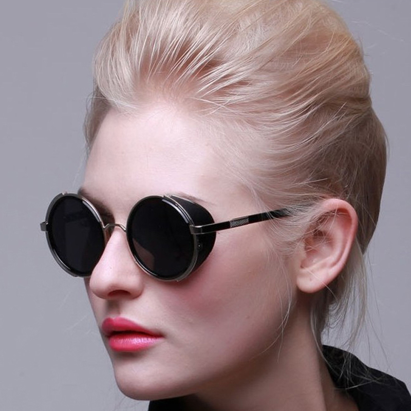cac90d80dc3 Dollger Vintage Round Steampunk Goggles Sunglasses for women Men Brand  Designer Steam Punk Round Sun Glasses Female Gafas s004-in Sunglasses from  Apparel ...