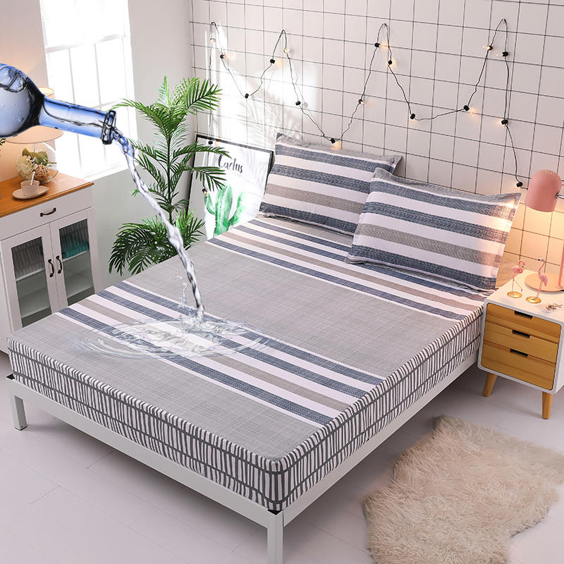 Peachy Us 25 38 31 Off High Quality 100 Cotton Bed Sheet Waterproof Mattress Protector Cover Hypoallergenic Permeable Bed Cover Free Shipping In Sheet Caraccident5 Cool Chair Designs And Ideas Caraccident5Info