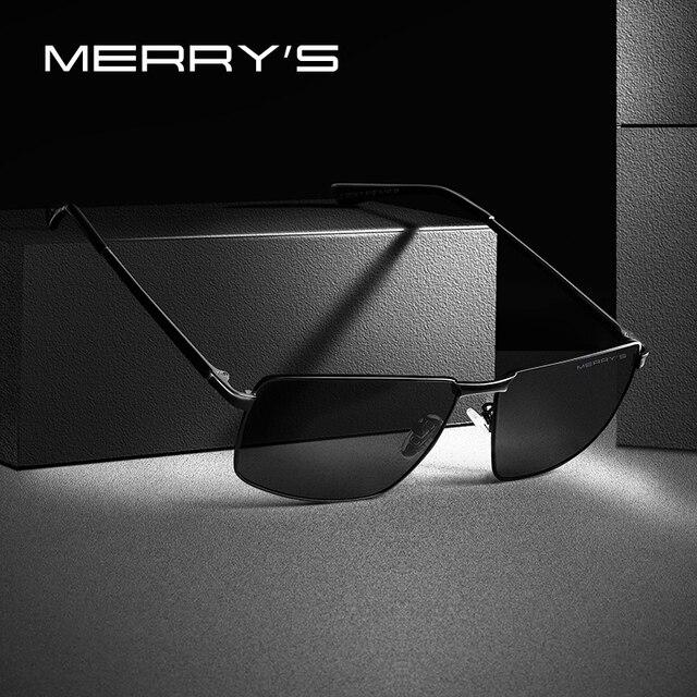 MERRYS DESIGN Men Classic Rectangle Sunglasses Aviation Frame HD Polarized Sunglasses For Men Driving UV400 Protection S8283