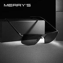 Merrys design masculino clássico retângulo óculos de sol quadro aviação hd polarizado óculos de sol para condução uv400 proteção s8283