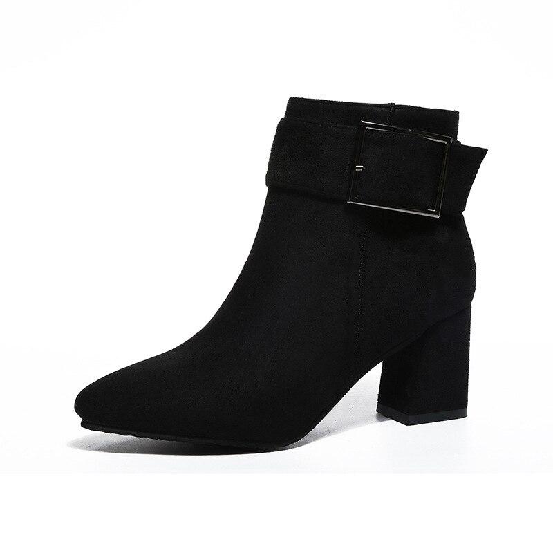 2018 Angleterre Automne Chaussures Et rouge gris Noir Femme Bottes M8d97 Cheville Martin Avec Pointu Épais Nouveau Printemps qpwxTHFp