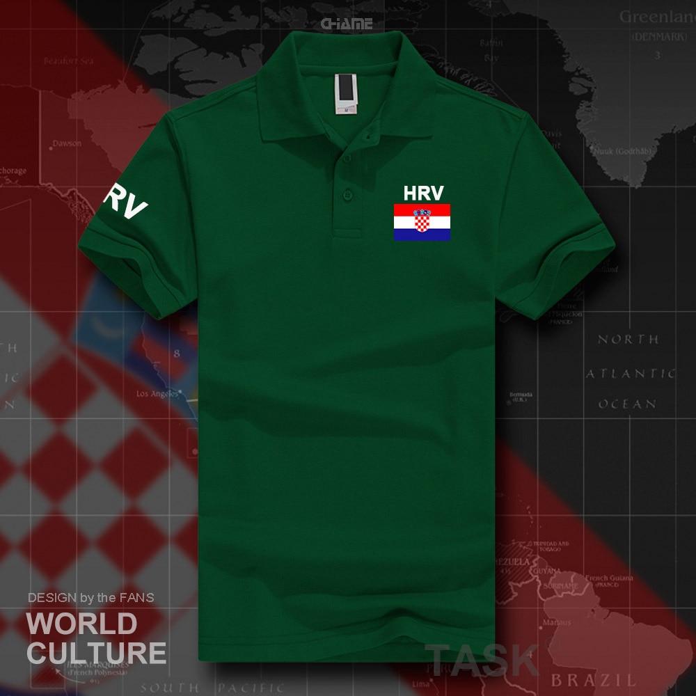 Croatia Hrvatska Croatian   polo   shirts men short sleeve white brands printed for country 2017 cotton nation team flag HRV Croats