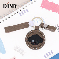 Luxury Famous Brand Designer Genuine Leather Cute Teddy Dog Charms Cowhide Pendant Gifts Girls Women Bag Charm Accessories